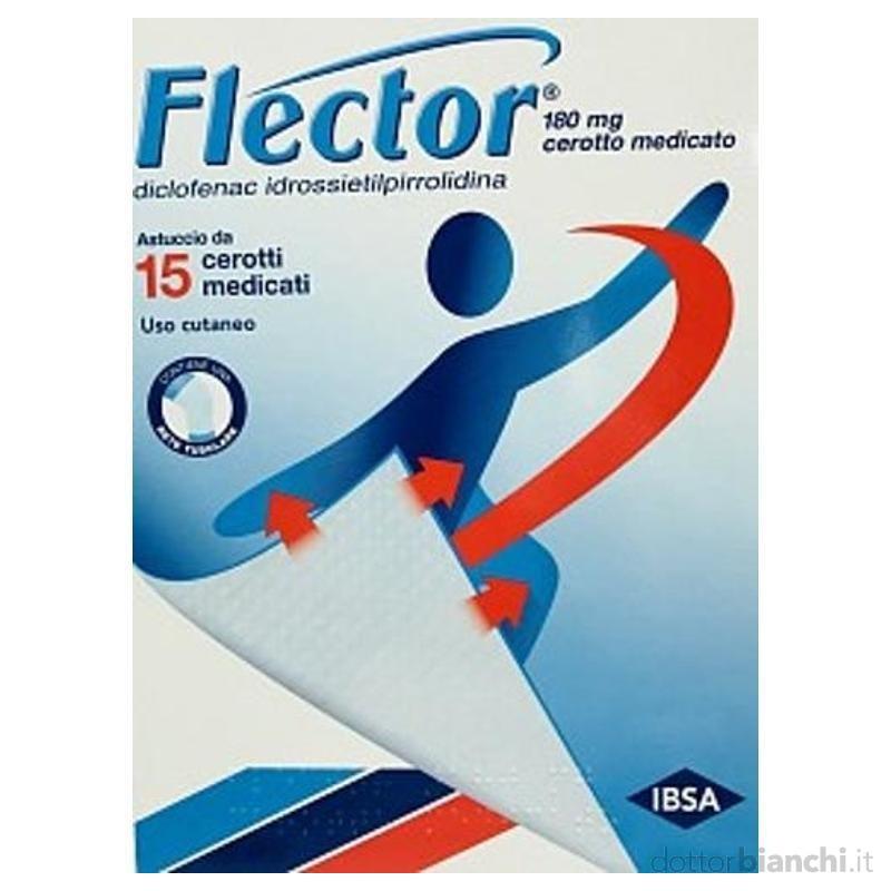 FLECTOR 15 CEROTTI MEDICATI 180MG